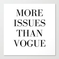 vogue Canvas Prints featuring #VOGUE by YUNG-GOD