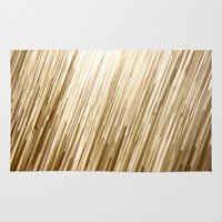 gold glitter Area & Throw Rugs featuring Gold Glitter 0875 by Cecilie Karoline