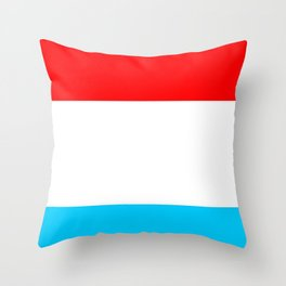 flag of luxembourg 2- Luxembourgish,Lëtzebuerg,Luxemburg,Luxembourger, luxembourgeois Throw Pillow