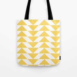 Yellow Triangle Tote Bag