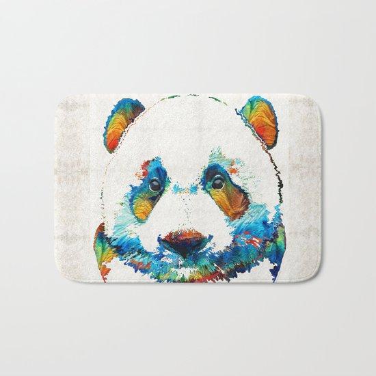 Colorful Panda Bear Art By Sharon Cummings Bath Mat