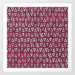shakal pink Art Print