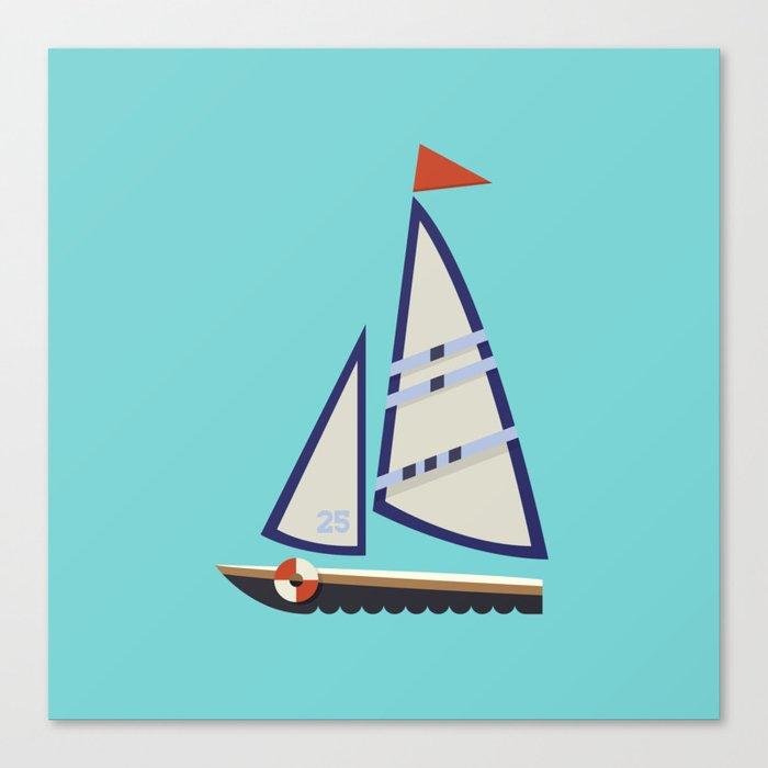 Sailboat I Canvas Print