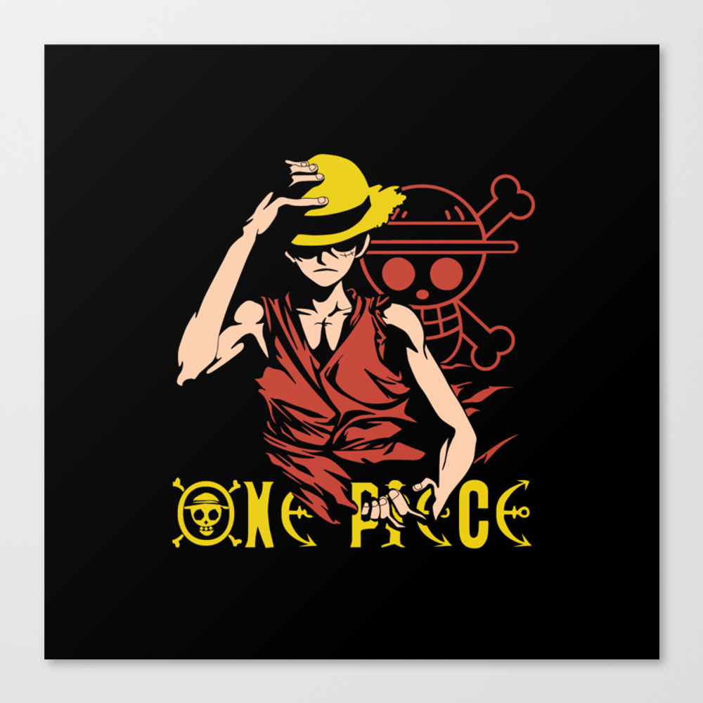 Monkey D Luffy - One Piece Anime Canvas Print by Malaqueen CNV8076010
