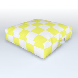 Checkered (Yellow & White Pattern) Outdoor Floor Cushion