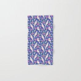 Tropical cockatoos - blue Hand & Bath Towel