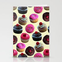 cupcakes Stationery Cards featuring Cupcakes by Tangerine-Tane