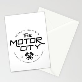 Throwback Detroit Motor City Michigan Pride Car Enthusiast Stationery Cards
