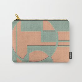 Circular Squares and Rectangles Carry-All Pouch
