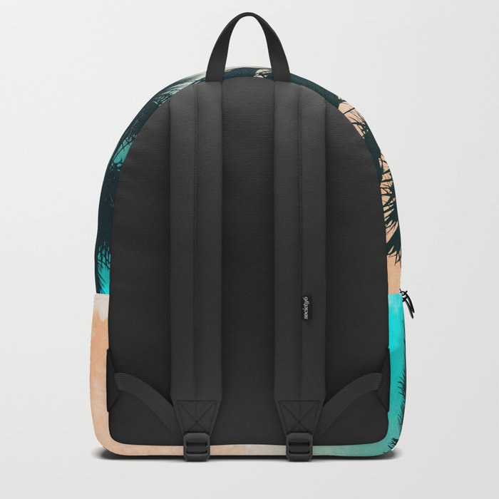 Palms on the beach Backpack