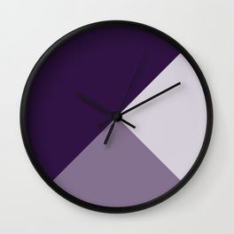 Gradient Geometry - Purple Wall Clock