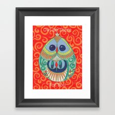 Owl Be There For You Framed Art Print