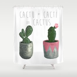 Cactu + Cacti = Cactus Shower Curtain