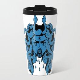 Light Blue Gorgon Travel Mug