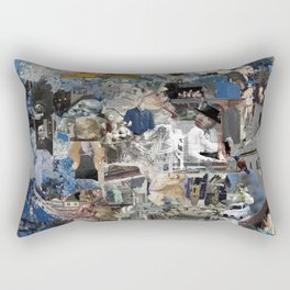 Untitled Digital Collage Rectangular Pillow