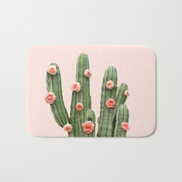 CACTUS AND ROSES Bath Mat