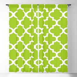 Arabesque Architecture Pattern In Lime Blackout Curtain