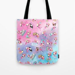 Fun Flamingos Tote Bag