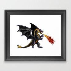 Might And Magic Black Dragon Framed Art Print