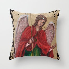 Archangel Gabriel Throw Pillow