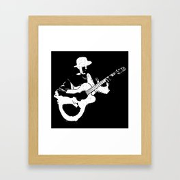 Musician playing Framed Art Print