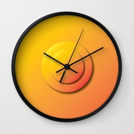 Ripe Orange Button - Gradient Bullet Point Wall Clock