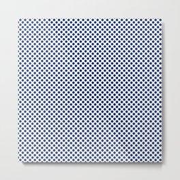 Deep Sapphire Polka Dots Metal Print