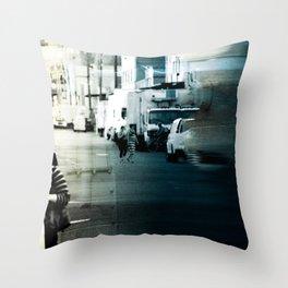 City Stripes Throw Pillow