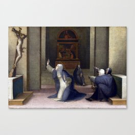 Domenico Beccafumi Saint Catherine of Siena Receiving the Stigmata Canvas Print