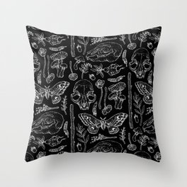 Witchcraft II [B&W] Throw Pillow
