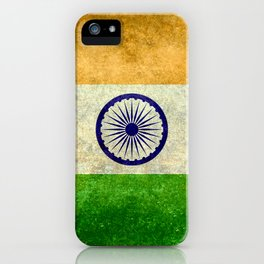 Flag of India - Retro Style Vintage version iPhone Case