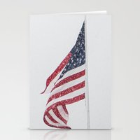 patriotic Stationery Cards featuring Patriotic Snowfall by Lia Bedell