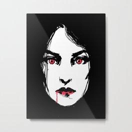 Vampire Girl Metal Print