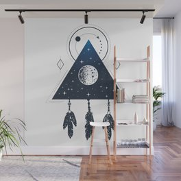 Space. Geometric Style Wall Mural