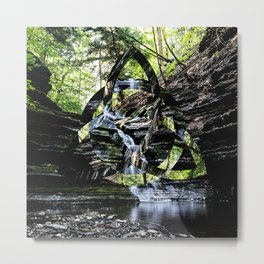 Triquetra waterfall Metal Print