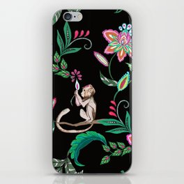 Paisley and monkey Prints iPhone Skin