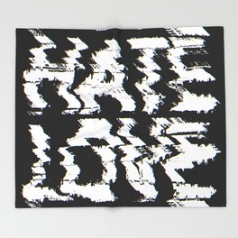 Love or Hate Throw Blanket