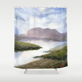Water and Colour Shower Curtain