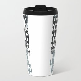 grey calligraphy (screen print) Travel Mug