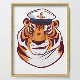 Seafarer adventure gift explorer conqueror Serving Tray