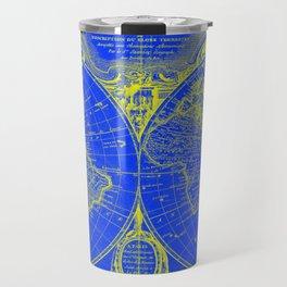 World Map (1775) Blue & Yellow Travel Mug
