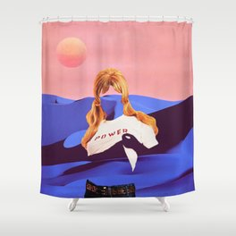 Lunar Power Shower Curtain
