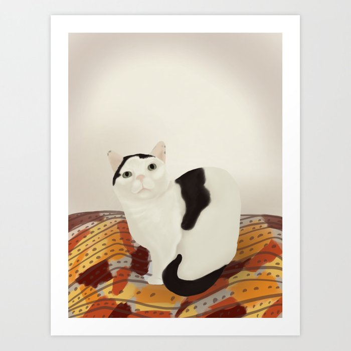 Cows the Cat Art Print