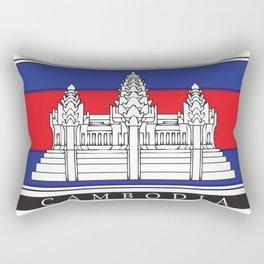 Cambodian Flag Rectangular Pillow