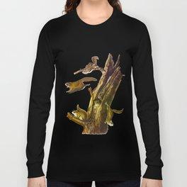 Flying Squirrel Vintage Hand Drawn Illustration Long Sleeve T-shirt