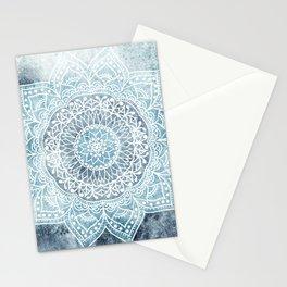 DEEP BLUE MANDALA Stationery Cards