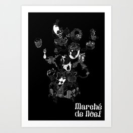 Marche black Art Print