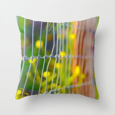 Spring Fence Throw Pillow