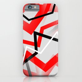 Mass Hysteria Abstract - Red, Black, Gray, White iPhone Case