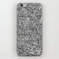 SILVER GLITTER iPhone & iPod Skin